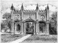 portyk pałacu paca w dowspódzie